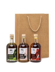 Geschenktüte mit 3 verschiedenen Ölen
