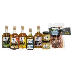 Feinschmecker Set Öl, Senf, Schinken-Rauchfleisch